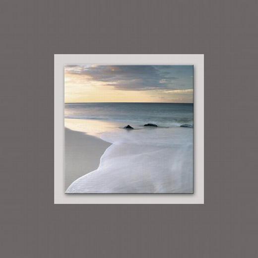 Landschaft & Natur, Sonnenuntergang, Strand & Meer ALUMINIUMBILD - Multicolor, Basics, Glas/Metall (50/50/3cm) - Eurographics