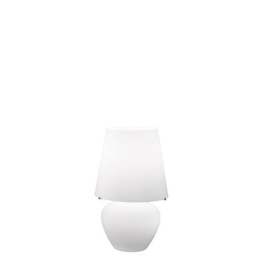 TISCHLEUCHTE - Weiß, Design, Glas (32/32/50cm)