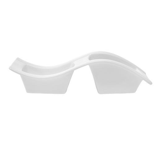 DIPSCHALE Keramik Porzellan  - Weiß, Basics, Keramik (32,2/11,5/8,3cm) - Novel