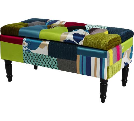 KLUPA - tamno smeđa/višebojno, Lifestyle, tekstil/drvo (80/40/40cm) - Hom`in