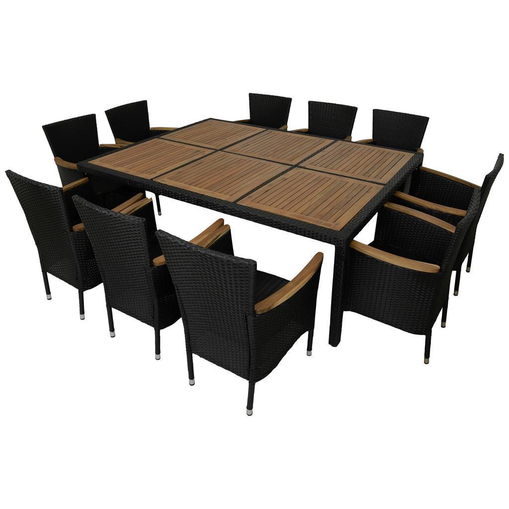 XXXLutz Gartentischgruppe akazie schwarz