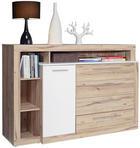 SIDEBOARD - Eichefarben/Alufarben, Design, Holzwerkstoff/Kunststoff (161/107/43cm) - Ti`me