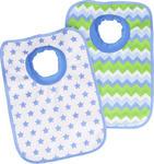 LÄTZCHEN 2-teilig - Blau/Weiß, Basics, Textil (23,5/37cm) - My Baby Lou