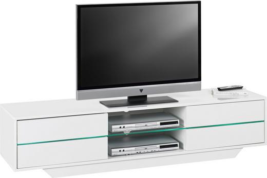 TV-ELEMENT Weiß - Weiß, Design, Glas (160/36/40cm)
