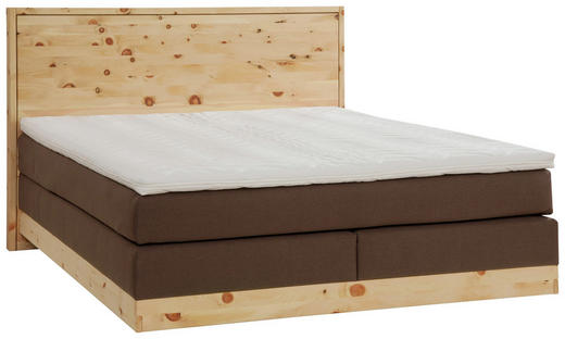 BOXSPRINGBETT  in Dunkelbraun, Zirbelkieferfarben - Dunkelbraun/Zirbelkieferfarben, Natur, Holz/Textil (180/200cm) - Valnatura