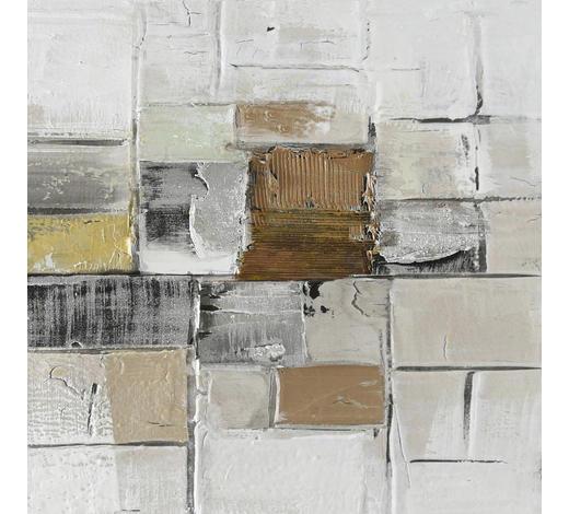 ÖLGEMÄLDE - Multicolor, Basics, Holz/Textil (30/30cm) - Monee