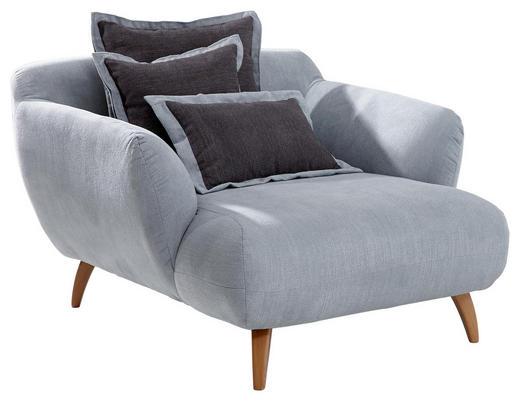 BIG SESSEL in Textil Dunkelgrau, Hellblau - Dunkelgrau/Naturfarben, Design, Holz/Textil (120 85 150cm) - Carryhome