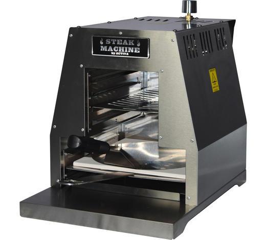 GASGRILL STEAK MACHINE PIZZA - Edelstahlfarben, KONVENTIONELL, Metall (33/40,5/53cm)