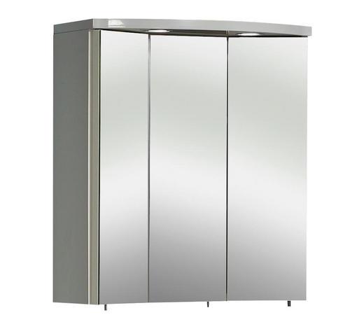 SPIEGELSCHRANK Weiß  - Weiß, Basics, Glas/Holzwerkstoff (55/63/20cm) - Carryhome