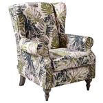 OHRENSESSEL in Textil Multicolor  - Multicolor/Grau, Design, Holz/Textil (83/102/87cm) - Carryhome