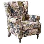 OHRENSESSEL Flachgewebe Multicolor  - Multicolor/Grau, Design, Holz/Textil (83/102/87cm) - Carryhome