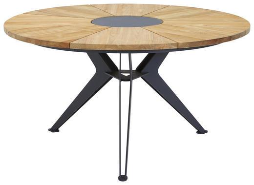 GARTENTISCH  140/76/ cm - Anthrazit/Teakfarben, Design, Holz/Metall (140/76/cm)