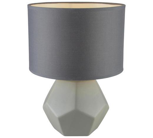 TISCHLEUCHTE - Hellgrau, Design, Keramik/Textil (25,5/35cm)