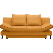 SCHLAFSOFA in Textil Gelb, Orange - Gelb/Schwarz, Design, Textil/Metall (200/85/90cm) - Xora