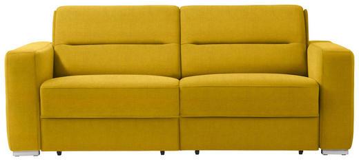 SCHLAFSOFA in Textil Gelb - Gelb, KONVENTIONELL, Textil/Metall (202/86/92cm) - Sedda