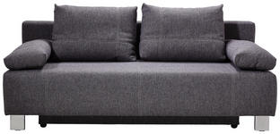 SCHLAFSOFA Webstoff Anthrazit  - Chromfarben/Anthrazit, Design, Textil/Metall (194/88/88cm) - Novel