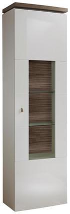 VITRINE Eichefarben, Weiß - Eichefarben/Weiß, Design, Glas/Holzwerkstoff (60/208/39,7cm) - Stylife
