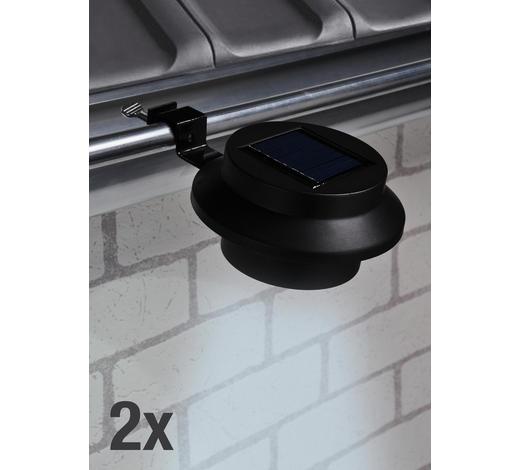 Dachrinnenleuchten-Set 2-tlg. - Schwarz, Basics, Kunststoff/Metall (11/6cm)