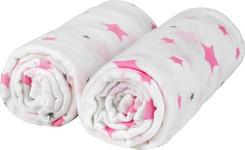 STOFFWINDEL 2-teilig  - Pink/Weiß, Basics, Textil (120/120cm) - My Baby Lou