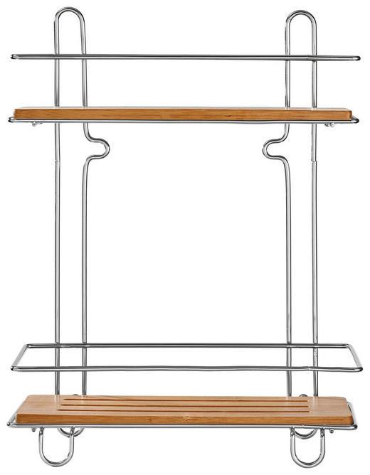 BADEZIMMERREGAL Holz, Metall Bambus - Holz/Metall (26,5/34/13cm)