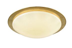 LED-TAKLAMPA - guldfärgad, Klassisk, metall/plast (42cm) - Novel