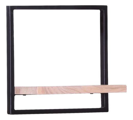 WANDREGAL Akazie massiv Schwarz, Akaziefarben  - Schwarz/Akaziefarben, Design, Holz/Metall (35/35/20cm) - Carryhome