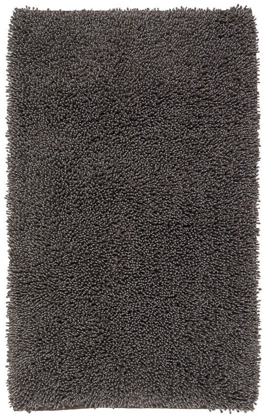 BADEMATTE in Dunkelgrau 60/100 cm - Dunkelgrau, Basics, Textil (60/100cm) - Ambiente