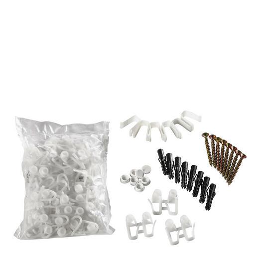 VORHANGSCHIENENZUBEHÖR - Weiß, Basics, Kunststoff (1cm) - Homeware