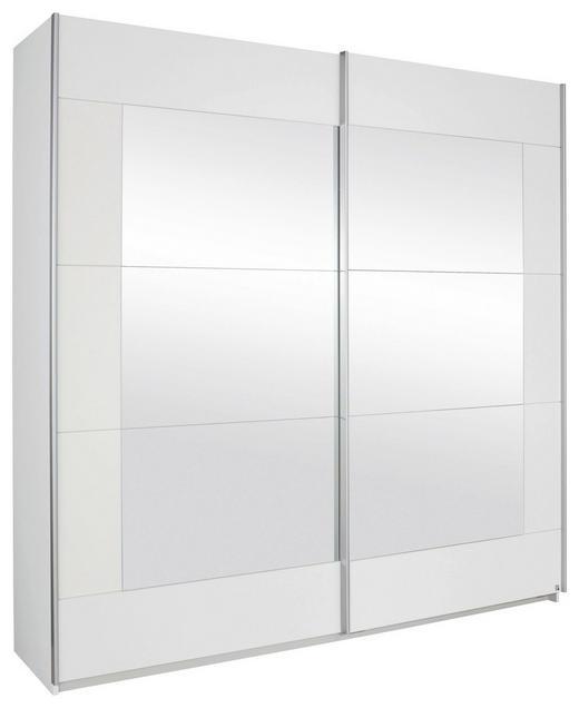 SCHWEBETÜRENSCHRANK 2-türig Weiß - Alufarben/Weiß, Design, Glas/Holzwerkstoff (226/210/62cm) - Xora