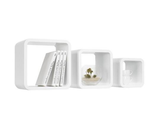 SADA NÁSTĚNNÝCH REGÁLŮ, bílá,  - bílá, Design, kompozitní dřevo (30/25/20/30/25/20/20cm) - Carryhome