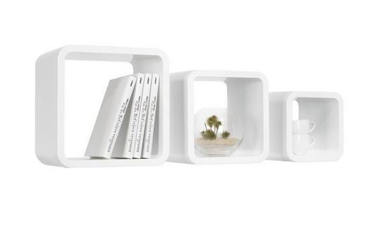 VÄGGHYLLA SET - vit, Design, träbaserade material (30/25/20/30/25/20/20cm) - Carryhome