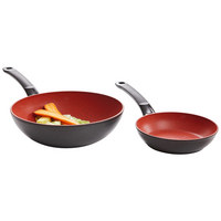 PFANNE 20 cm - Rot/Schwarz, Basics, Metall (20cm) - Fissler