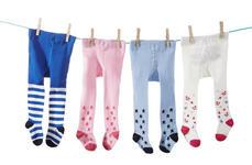 STRUMPFHOSE - Blau/Rosa, Basics, Textil (62-92) - MY BABY LOU