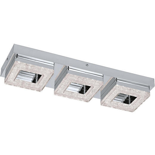 LED-DECKENLEUCHTE - Chromfarben/Klar, Design, Kunststoff/Metall (46/14/6cm) - Novel