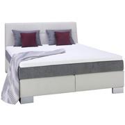 POSTEL BOXSPRING, 180 cm  x 200 cm, textilie, bílá, světle šedá - bílá/barvy stříbra, Konvenční, dřevo/textilie (180/200/cm) - Voleo