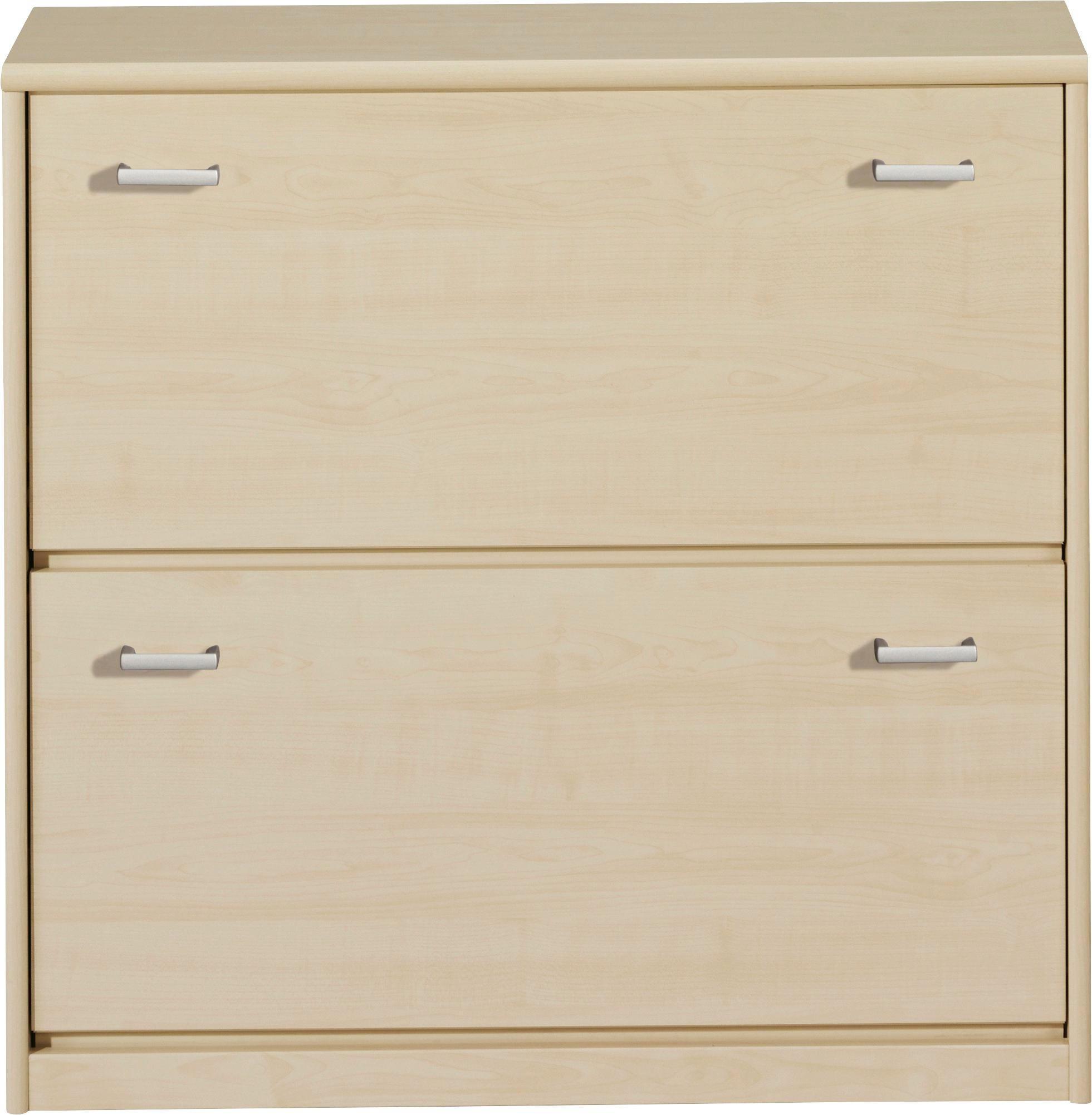 SCHUHKIPPER - Silberfarben/Ahornfarben, KONVENTIONELL, Holzwerkstoff/Kunststoff (87/84/27cm) - CS SCHMAL