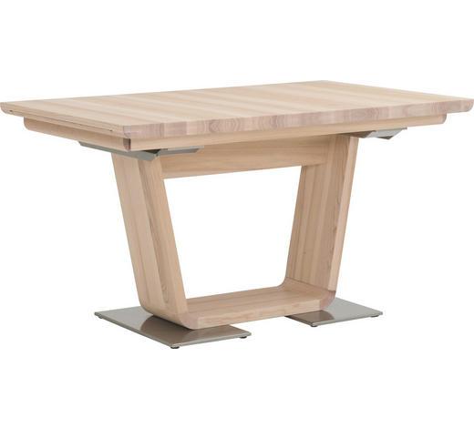 ESSTISCH in Holz, Metall 140/90/76 cm - Champagner/Eschefarben, Design, Holz/Metall (140/90/76cm) - Anrei
