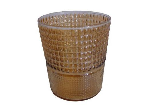 TEELICHTGLAS - Champagner/Goldfarben, Trend, Glas (10/11cm) - Ambia Home