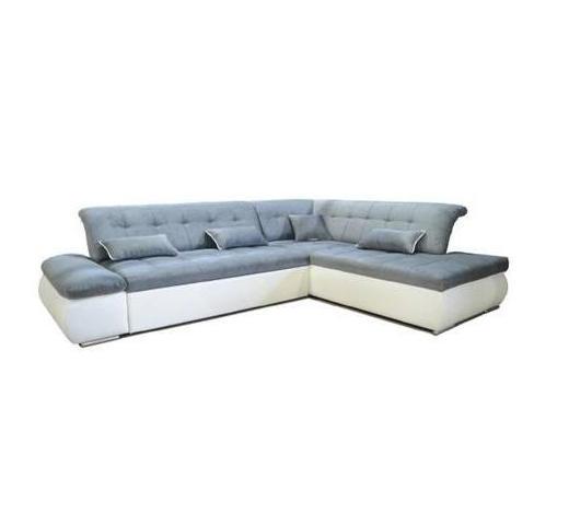SJEDEĆA GARNITURA - bijela/siva, Moderno, drvo/tekstil (285/218cm) - Ti`me