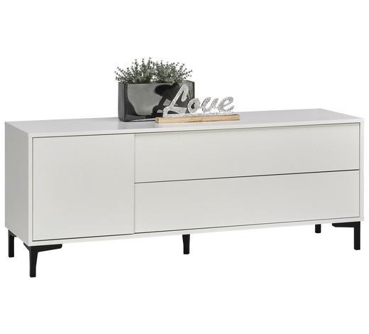 LOWBOARD 140/54/38 cm - Graphitfarben/Weiß, Trend, Holzwerkstoff/Kunststoff (140/54/38cm) - Carryhome