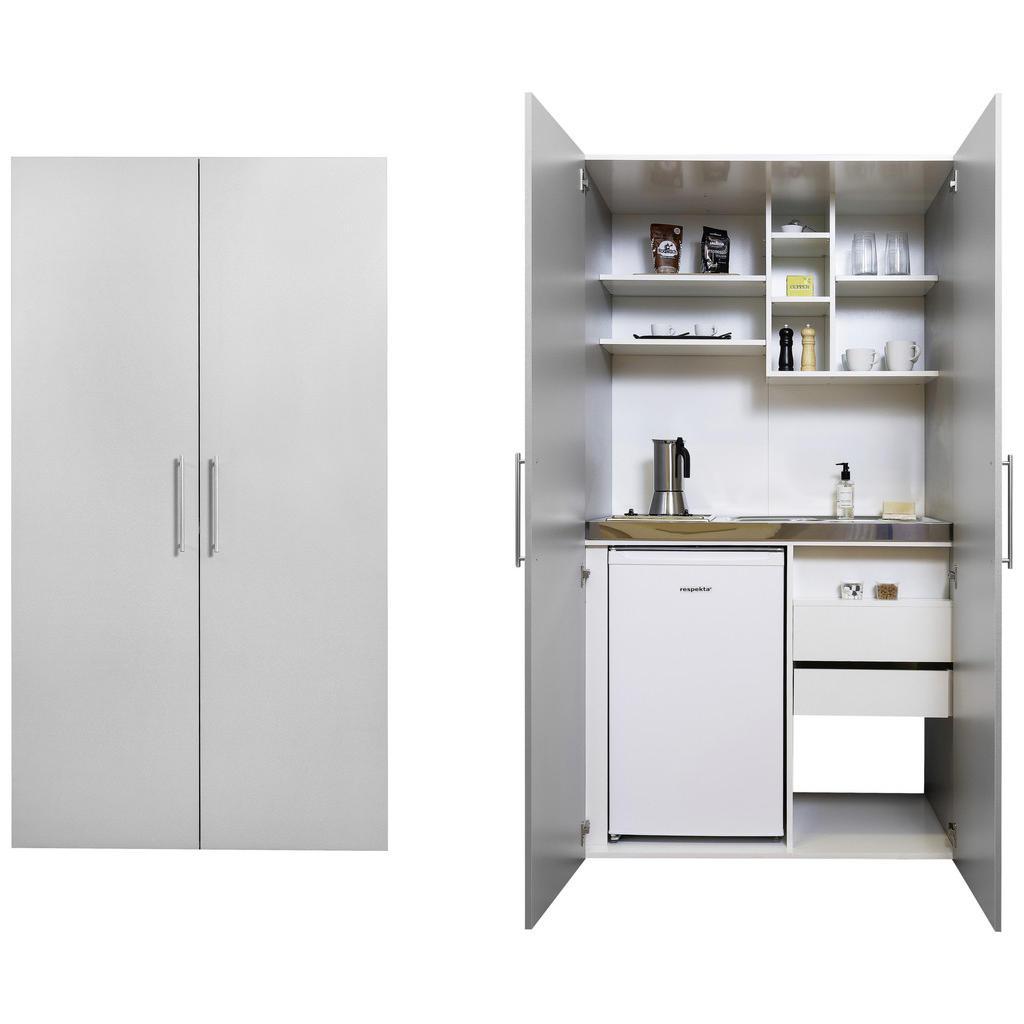 Respekta Schrankküche Schrankküche , Silber , Metall , 1 Schubladen , 104 cm , Frontauswahl , Exklusive Online Möbel, Exklusive Online Küchen