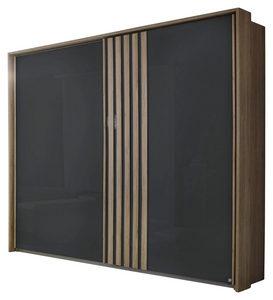 ORMAR - VISEĆA KLIZNA VRATA - Antracit/Boja hrasta, Dizajnerski, Metal/Pločasti materijal (271/210/62cm) - Carryhome