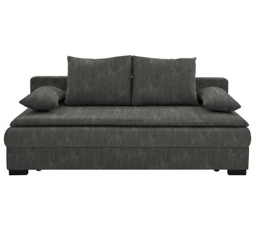 SCHLAFSOFA in Textil Braun, Grau  - Schwarz/Braun, KONVENTIONELL, Kunststoff/Textil (207/74-94/90cm) - Venda