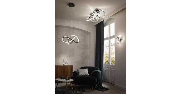 LED-DECKENLEUCHTE   - Chromfarben, Design, Kunststoff/Metall (90/30,8/57cm) - Ambiente