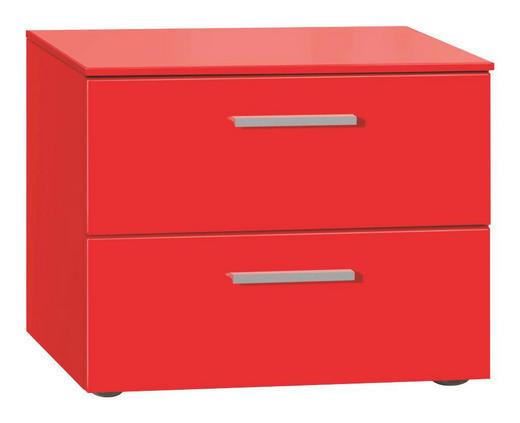 NACHTKÄSTCHEN lackiert Rot - Rot/Alufarben, Design (50/41/41cm) - Xora