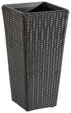 PFLANZENTOPF Kunststoff, Metall - Schwarz, Kunststoff/Metall (36/70/36cm) - AMBIA GARDEN