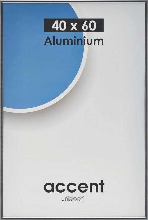 BILDERRAHMEN  Grau - Grau, Basics, Metall (40/60cm)