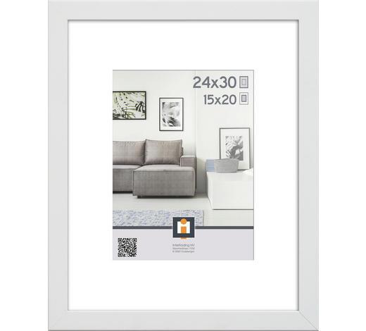 RÁM NA OBRAZY, 24/30/3 cm, bílá - bílá, Basics, umělá hmota/sklo (24/30/3cm)