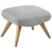 HOCKER - Eschefarben/Hellgrau, Design, Holz/Textil (48/43/57cm) - Carryhome
