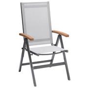 VRTNA SKLOPIVA STOLICA - siva/prirodne boje, Design, drvo/metal (56,4/105,8/65,50cm) - Ambia Garden